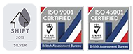 ISO and Shift accreditation